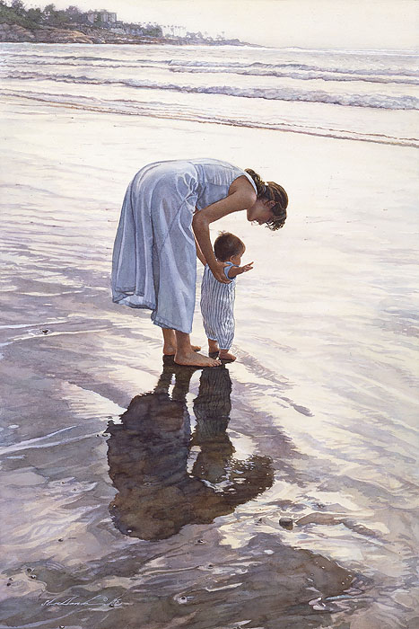 Steve Hanks - Standing on Their Own Two Feet -  ANNIVERSARY CANVAS EDITION Published by the Greenwich Workshop