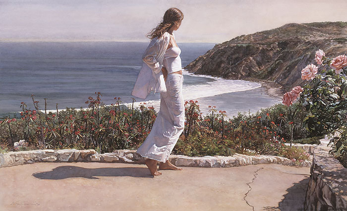 Steve Hanks - Beyond the Path -  LIMITED EDITION CANVAS Published by the Greenwich Workshop