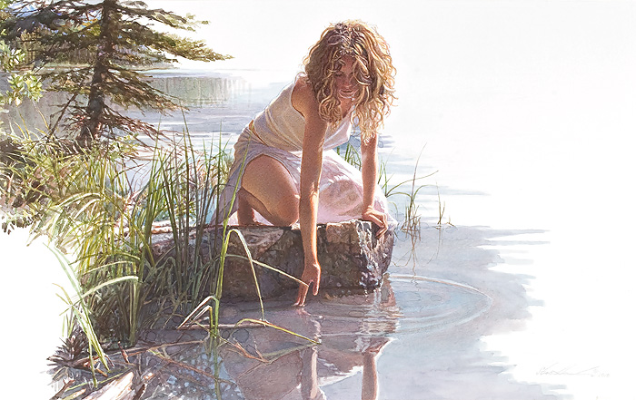 Steve Hanks - Touched By Beauty -  LIMITED EDITION CANVAS Published by the Greenwich Workshop
