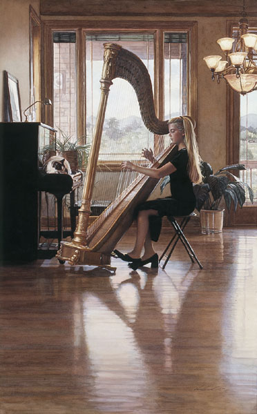 Steve Hanks - Private Recital -  LIMITED EDITION PRINT Published by the Greenwich Workshop