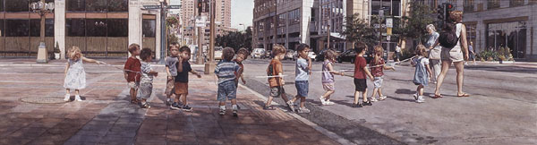 Steve Hanks - Stringing the Children Along -  LIMITED EDITION PRINT Published by the Greenwich Workshop
