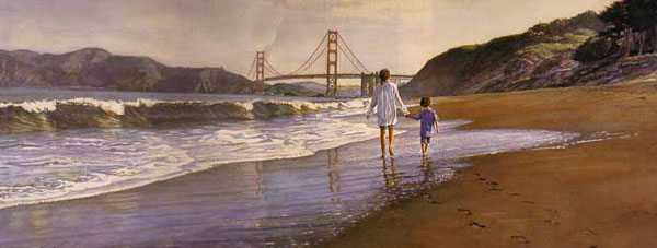 Steve Hanks - Morning at Baker´s Beach -  LIMITED EDITION PRINT Published by the Greenwich Workshop