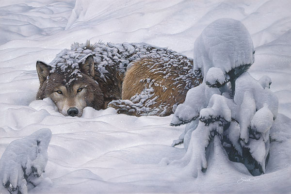 Daniel Smith - Winter´s Embrace -  LIMITED EDITION CANVAS Published by the Greenwich Workshop