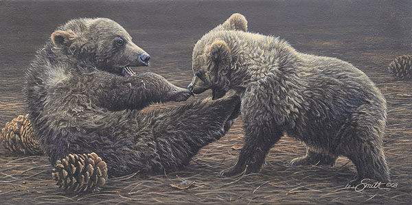 Daniel Smith - Brawlin´ Bruins -  SMALLWORK CANVAS EDITION Published by the Greenwich Workshop