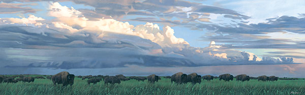 Joshua Spies - Prairie Thunder -  MUSEUMEDITION CANVAS Published by the Greenwich Workshop