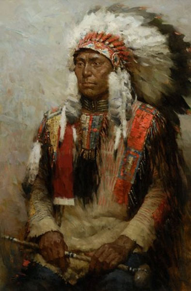 Z.S.  Liang - Lakota Warrior -  SMALLWORK CANVAS EDITION Published by the Greenwich Workshop