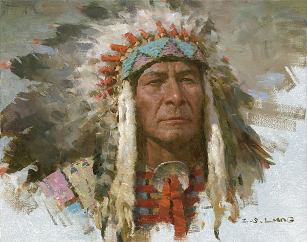 Z.S.  Liang - Leader of the Tribe -  SMALLWORK CANVAS EDITION Published by the Greenwich Workshop