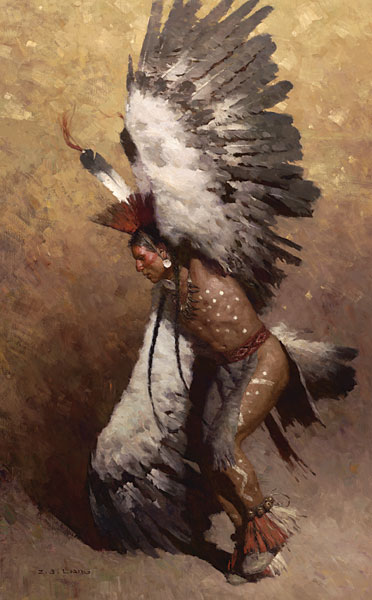 Z.S.  Liang - Eagle Dancer Potawatomi -  LIMITED EDITION CANVAS Published by the Greenwich Workshop
