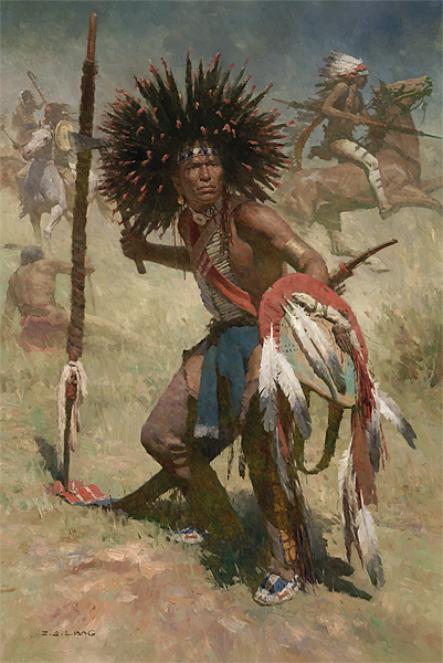 Lakota Sash Bearer, 1848<br> MASTERWORK CANVAS EDITION