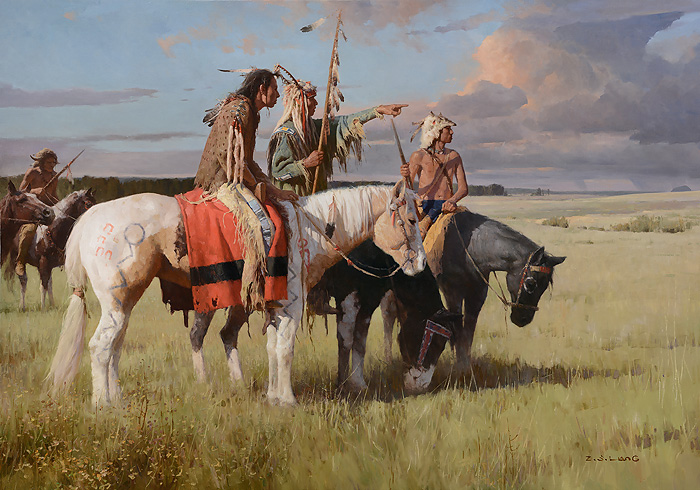 Z.S.  Liang - In Quest of the Cree -  LIMITED EDITION CANVAS Published by the Greenwich Workshop