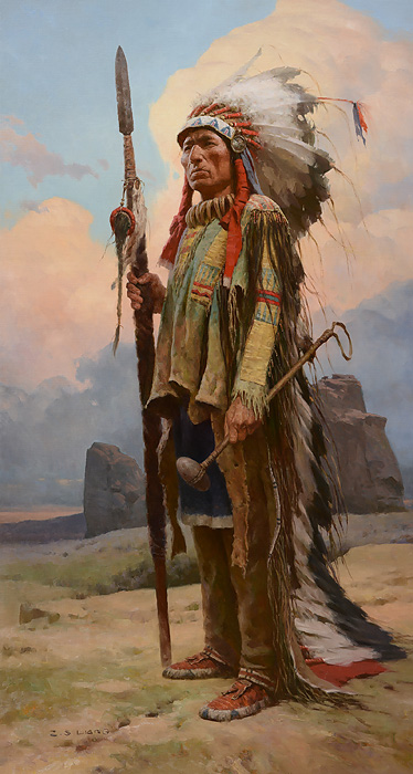 Z.S.  Liang - Pride of the Lakota -  LIMITED EDITION CANVAS Published by the Greenwich Workshop