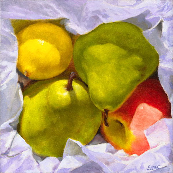 John Beder - Wrapped Fruit -  LIMITED EDITION CANVAS Published by the Greenwich Workshop