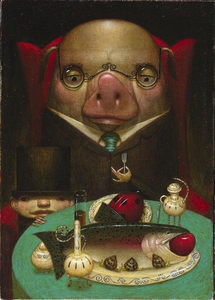 William Carman - Pig Out -  LIMITED EDITION PRINT Published by the Greenwich Workshop