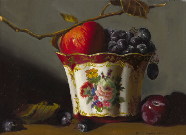 Rita Marandino - Porcelain and Fruit -  LIMITED EDITION CANVAS Published by the Greenwich Workshop