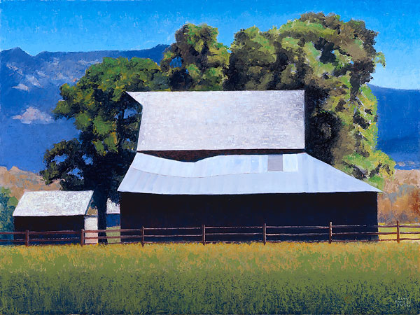 Gary Ernest Smith - Barn at Cove Oregon -  LIMITED EDITION CANVAS Published by the Greenwich Workshop