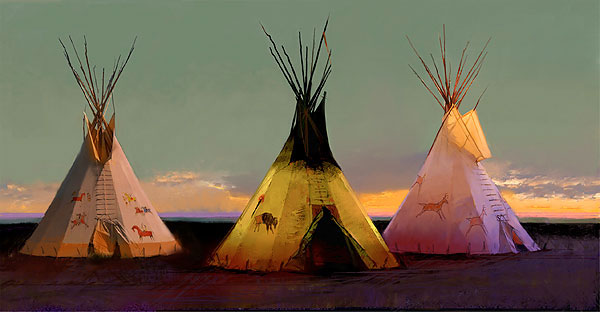 R. Tom Gilleon - Tribal Tripartite -  LIMITED EDITION CANVAS Published by the Greenwich Workshop