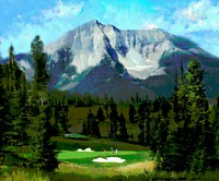 16th Hole, Moonlight Basin, Big Sky&lt;br&gt; LIMITED EDITION CANVAS