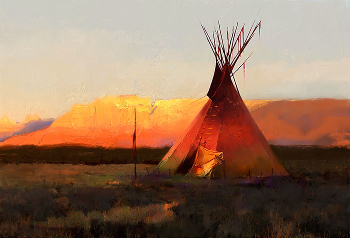 R. Tom Gilleon - Red Day Butte -  LIMITED EDITION CANVAS Published by the Greenwich Workshop