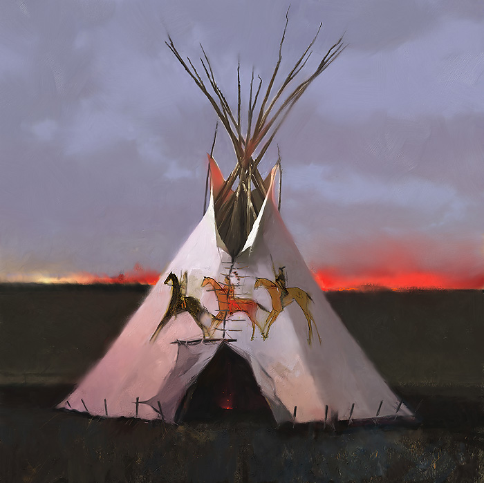 R. Tom Gilleon - Three Dog Soldiers -  LIMITED EDITION CANVAS Published by the Greenwich Workshop