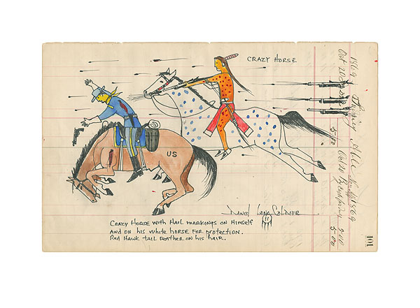 Daniel Long Soldier - Crazy Horse with Hail Markings -  LIMITED EDITION PRINT Published by the Greenwich Workshop