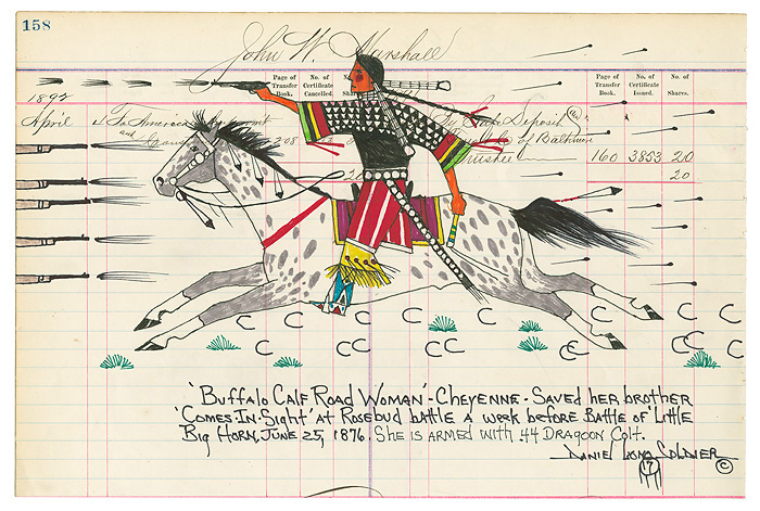 Daniel Long Soldier - Buffalo Calf Road Woman -  LIMITED EDITION PRINT Published by the Greenwich Workshop