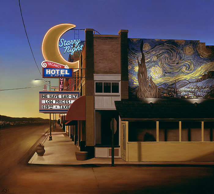 Ben Steele - Starry Night Hotel -  MASTERWORK CANVAS EDITION Published by the Greenwich Workshop