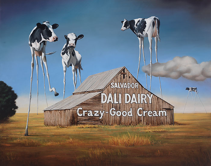 Ben Steele - Dali Dairy -  LIMITED EDITION CANVAS Published by the Greenwich Workshop