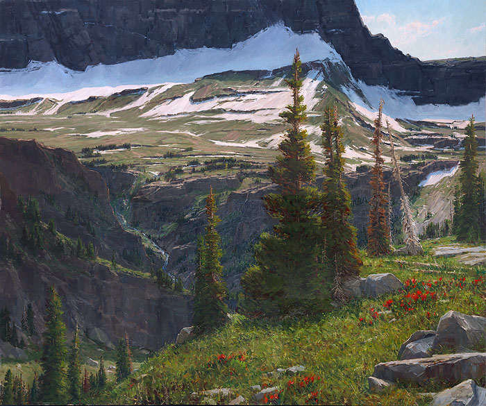 Carole Cooke - Alpine Reverie -  LIMITED EDITION CANVAS Published by the Greenwich Workshop