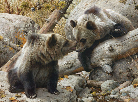 Carl Brenders - Alaska Chat -  LIMITED EDITION CANVAS Published by the Greenwich Workshop
