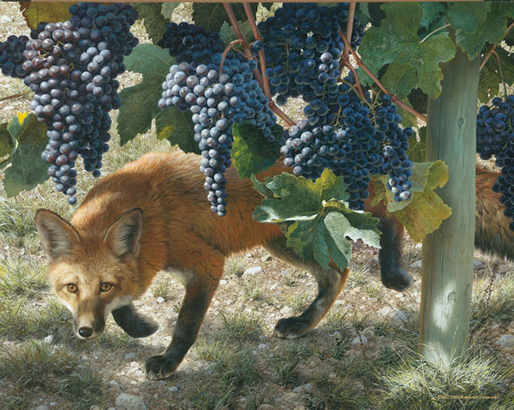 Carl Brenders - Between the Vines -  LIMITED EDITION CANVAS Published by the Greenwich Workshop