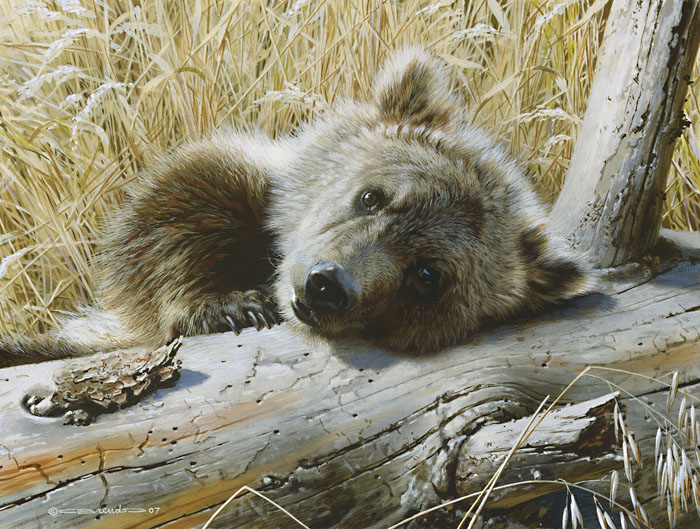 Carl Brenders - Time Out - Grizzly Cub -  LIMITED EDITION PRINT Published by the Greenwich Workshop