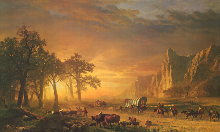 Albert Bierstadt - Emigrant's Crossing the Plains -  Published by the Greenwich Workshop