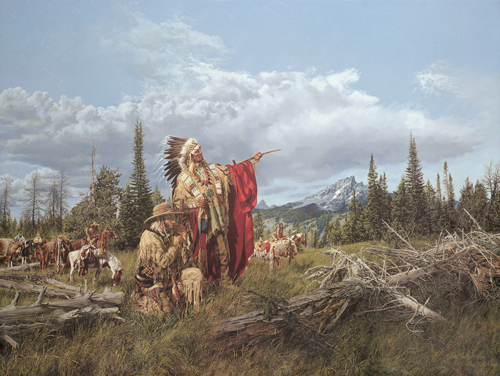 Paul Calle - In the Land of the Teton Sioux -  LIMITED EDITION CANVAS Published by the Greenwich Workshop