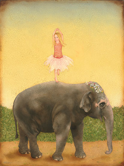 Emily McPhie - Pirouettes and Pachyderms -  LIMITED EDITION CANVAS Published by the Greenwich Workshop