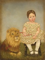 Serena and Her Lion<br> LIMITED EDITION CANVAS