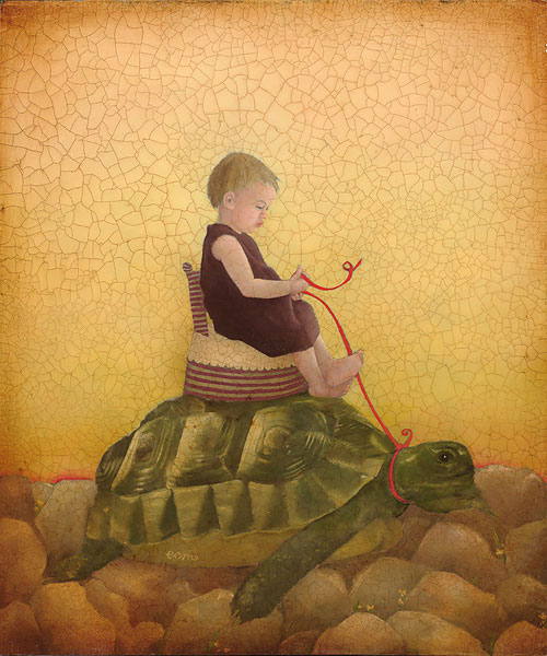 Emily McPhie - Tortoise -  SMALLWORK CANVAS EDITION Published by the Greenwich Workshop