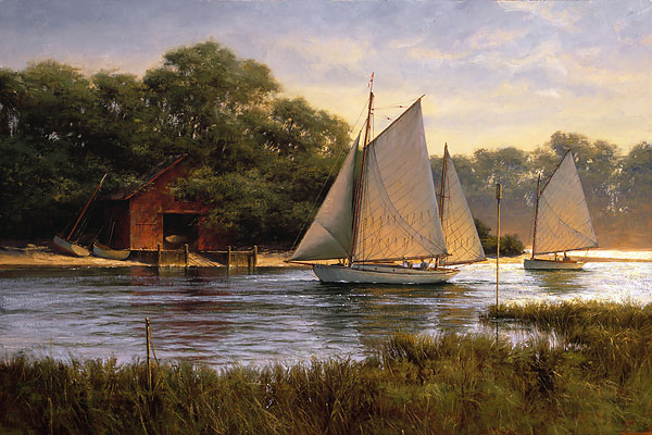 Don Demers - By the Old Boat House -  LIMITED EDITION CANVAS Published by the Greenwich Workshop