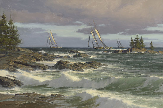 Don Demers - The Windswept Coast -  MASTERWORK CANVAS EDITION Published by the Greenwich Workshop