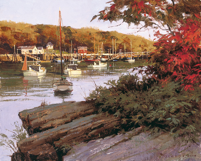Don Demers - Autumn in Little River -  LIMITED EDITION CANVAS Published by the Greenwich Workshop