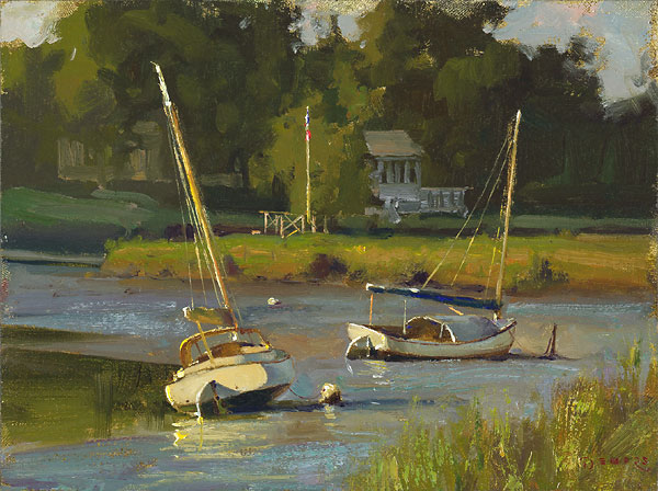 Don Demers - Resting on the River -  LIMITED EDITION CANVAS Published by the Greenwich Workshop
