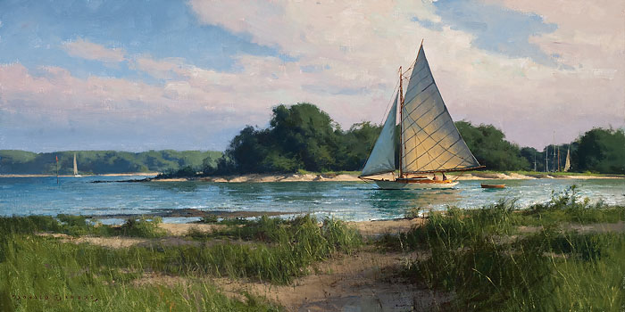 Don Demers - Passing the Island -  LIMITED EDITION CANVAS Published by the Greenwich Workshop