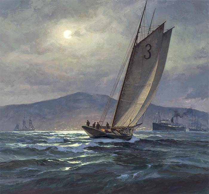 Don Demers - Moon Wake -  LIMITED EDITION CANVAS Published by the Greenwich Workshop