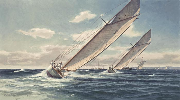 Don Demers - Gusting on the Last Leg -  LIMITED EDITION CANVAS Published by the Greenwich Workshop