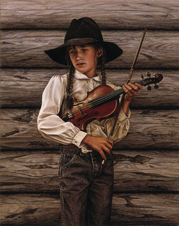 C. Ballantyne - KATE AND HER FIDDLE -  LIMITED EDITION PRINT Published by the Greenwich Workshop