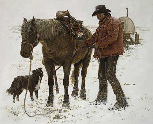 James Bama - YOUNG SHEEPHERDER -  LIMITED EDITION PRINT Published by the Greenwich Workshop
