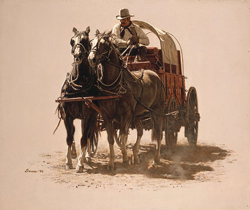 James Bama - CHUCK WAGON -  LIMITED EDITION PRINT Published by the Greenwich Workshop