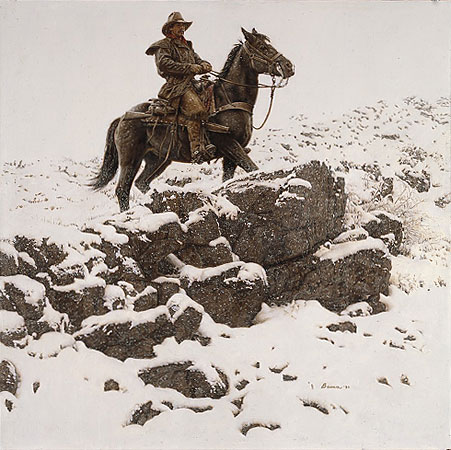 James Bama - RIDING THE HIGH COUNTRY -  LIMITED EDITION PRINT Published by the Greenwich Workshop