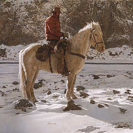 James Bama - ON THE NORTH FORK OF THE SHOSHONI -  LIMITED EDITION PRINT Published by the Greenwich Workshop