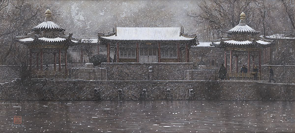 James Bama - XIAN TEMPLE -  LIMITED EDITION PRINT Published by the Greenwich Workshop
