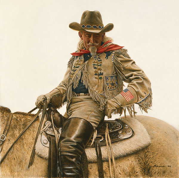 James Bama - Buffalo Bill - 4th of July -  LIMITED EDITION CANVAS Published by the Greenwich Workshop